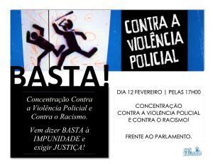 Concentração contra a violência policial