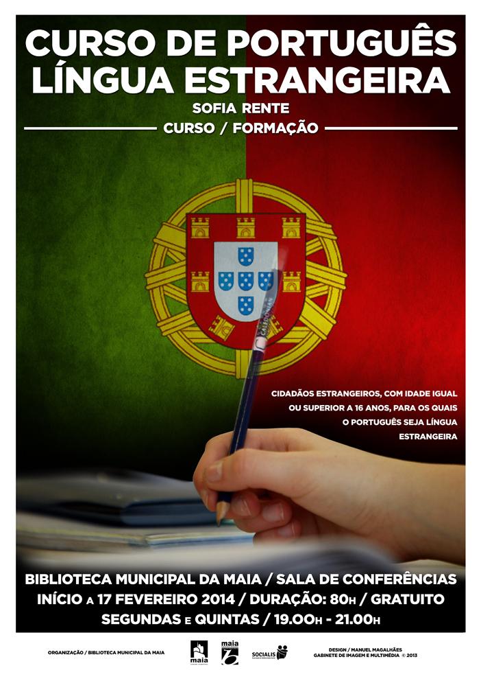 Curso de português avançado para estrangeiros com mais de 16 anos. O curso decorre até junho