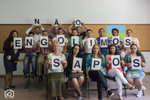 "Encontro Nacional do Projecto ""NAO ENGOLIMOS SAPOS"" realizado em Braga nos dias 18 e 19 de Junho de 2016. Projecto da SOS Racismo, patrocionado pelo Fundo de Apoio a Estrategia Nacional para a Integracao das Comunidades Ciganas 2016"